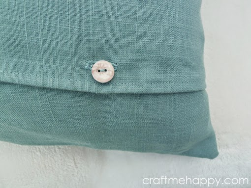 Throw Pillow Button Closure : Craft me Happy!: Cut out Cushion