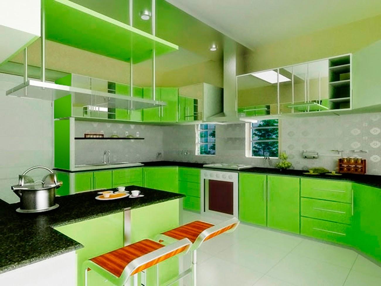 Warna cat dapur hijau muda
