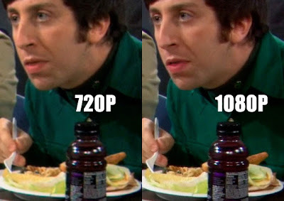 compare 720P with 1080P
