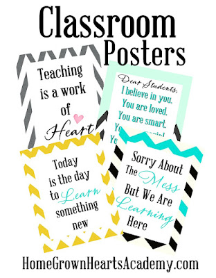 Download and Print our FREE Classroom Posters