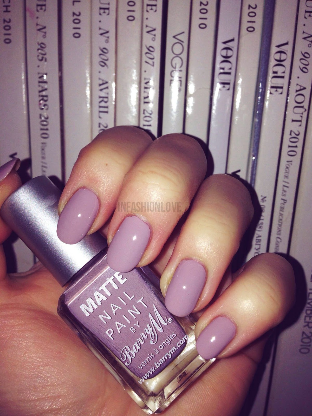 INFASHIONLOVE.COM: BarryM Matte Nailpolish in Vanilla + Topcoat!
