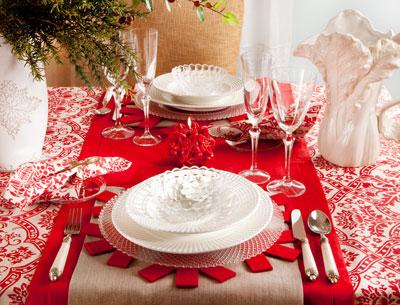 decorar la mesa en Nochevieja Navidad