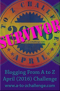 2016 April A to Z Blogging Challenge