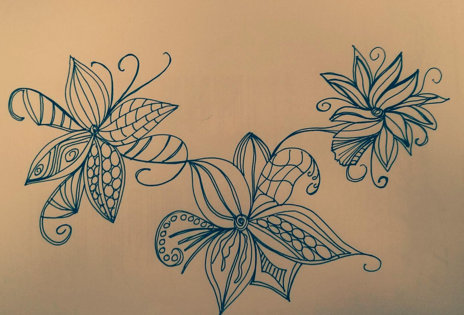 Flores sepia cosas que siento