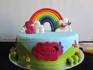 bolo arco-iris
