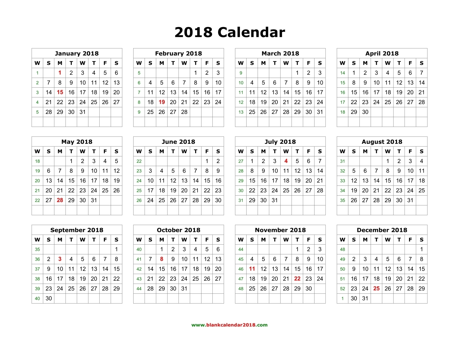 Printable Calendar PDF Excel Word Templates Get Printable - Word 2018 templates