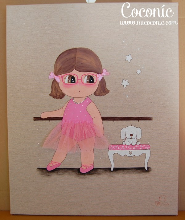 cuadro infantil niña personalizado bailarina decoracion