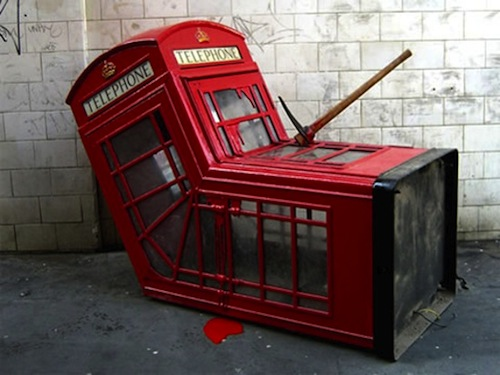 Murdered Phone booth