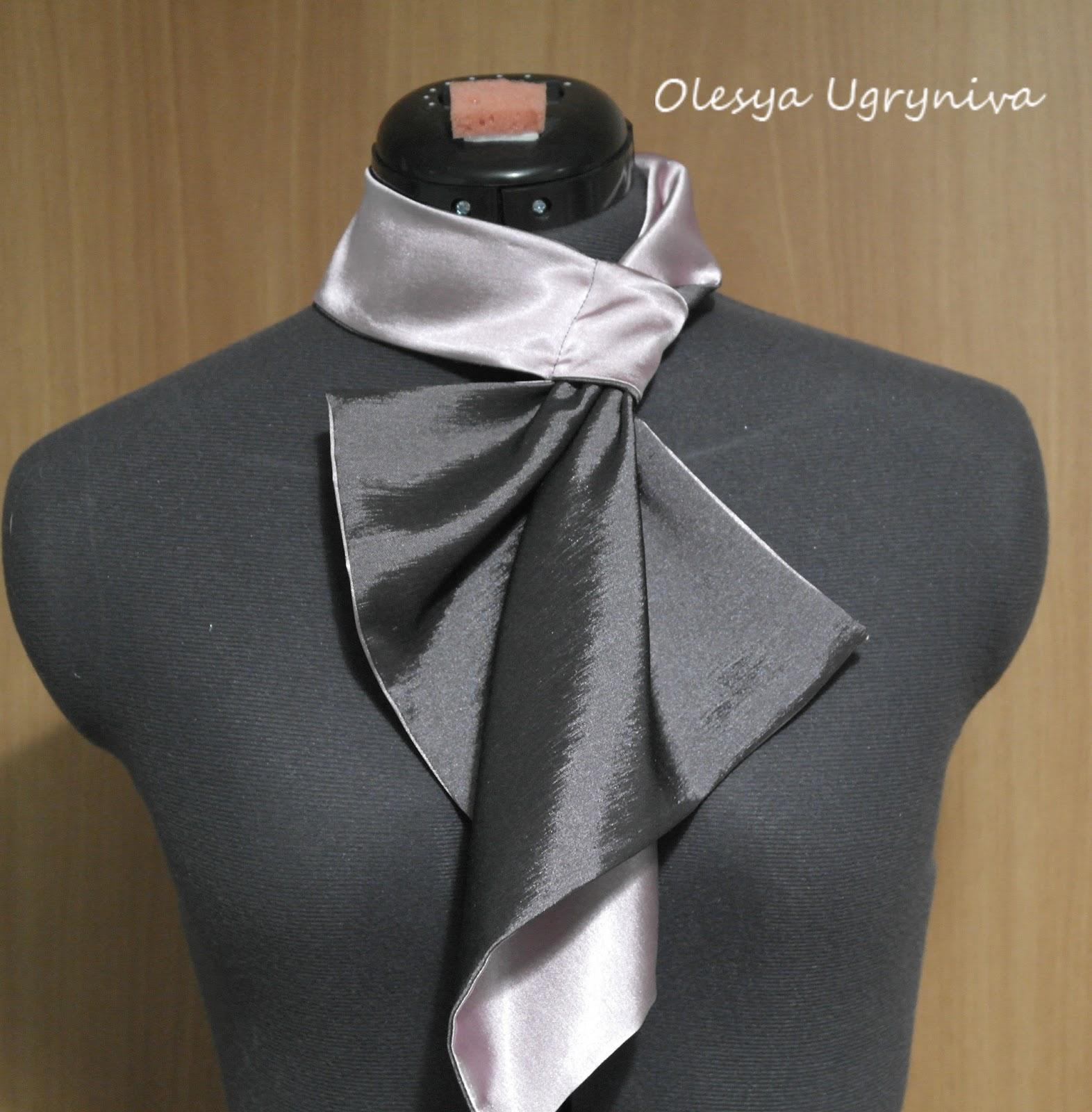 Как сшить мужской шарф из ткани