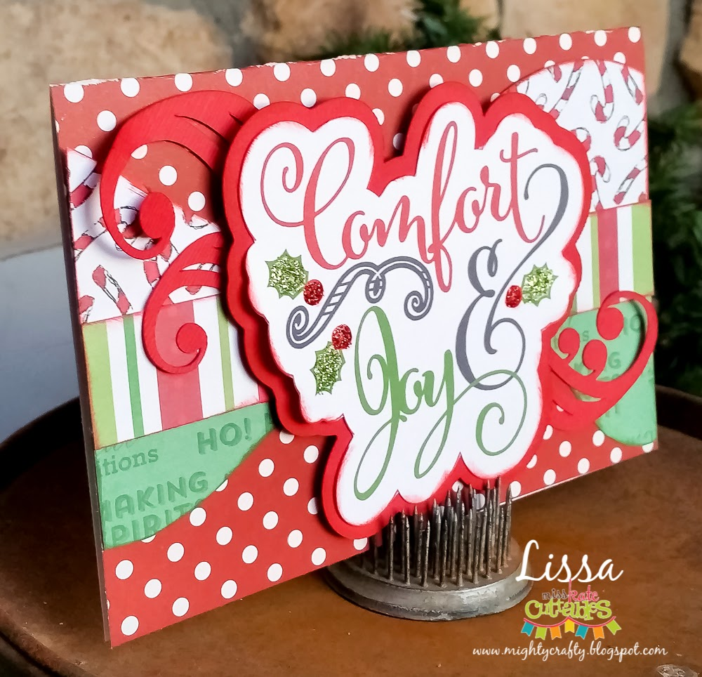 Comfort & Joy card by Lissa for Miss Kate Cuttables