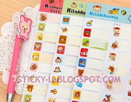 042: Rilakkuma Waterproof Label Sticker
