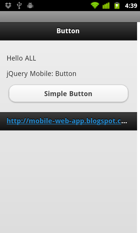 mobile web app jquery mobile simple button and onclick event