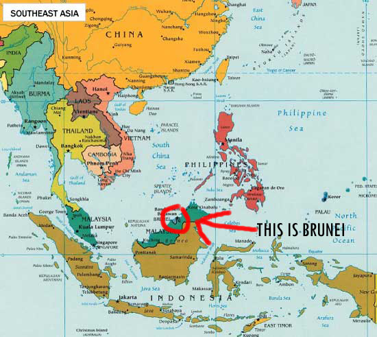 Brunei Country In World Map