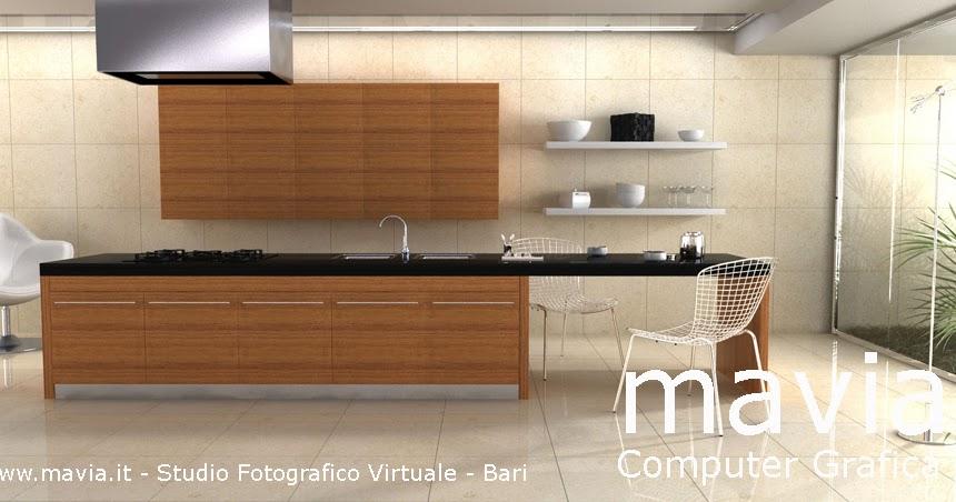 Arredamento di interni 3d interior design rendering cucina moderna con pavimento in - Interior design bari ...