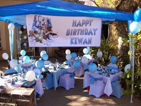 Fiestas Infantiles Decoradas con la Era del Hielo