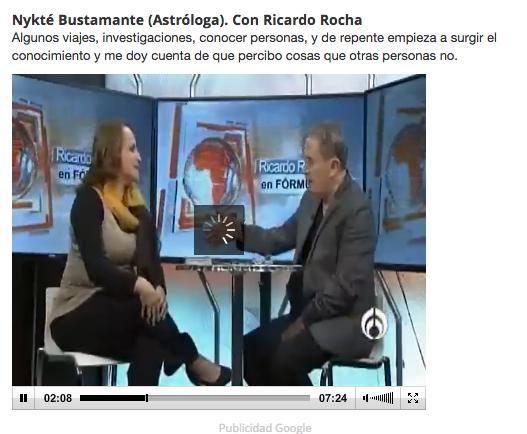 Entrevista Ricardo Rocha con Nicte