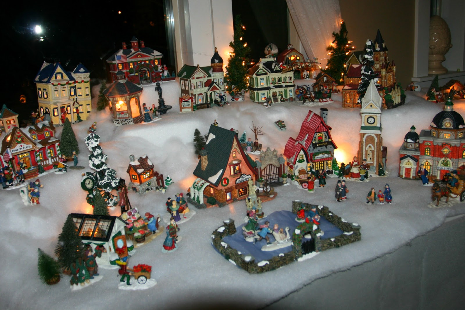 about 20 years ago i started collecting a christmas village it is one of my favorite things about christmas its something like having a doll house