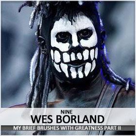 Wes Borland is an egotistical wanker