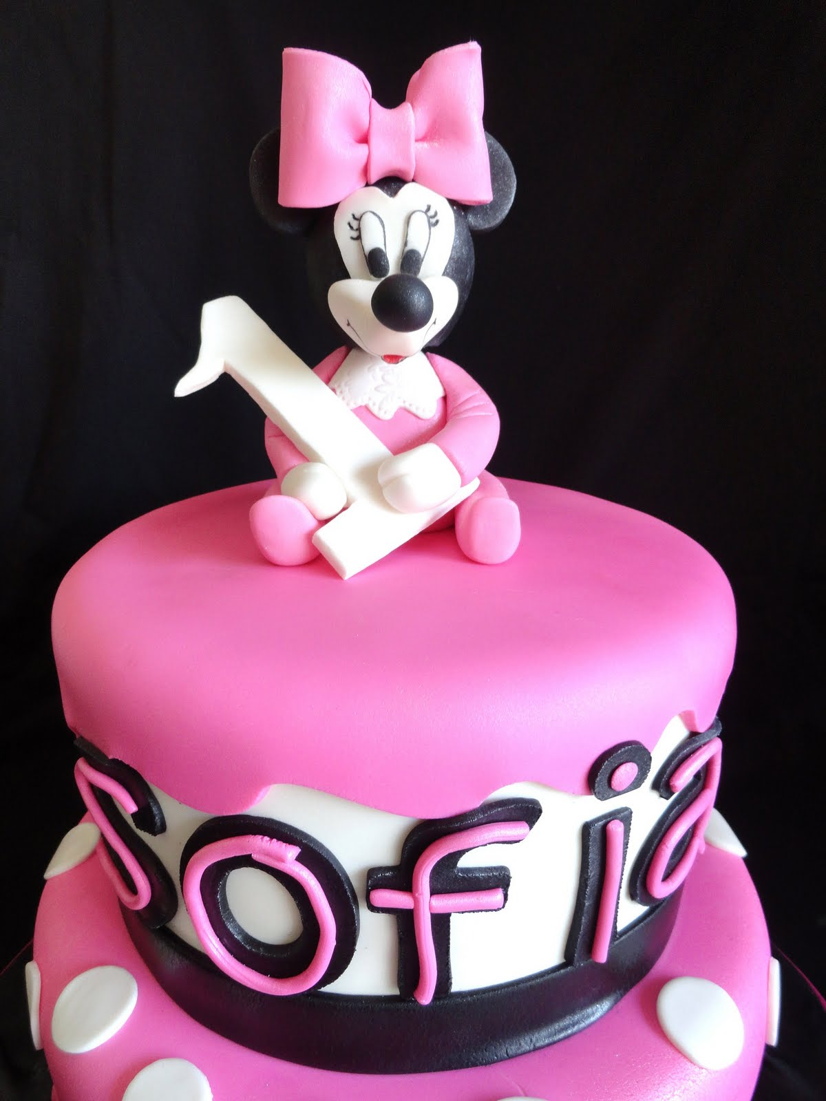 My Pink Little Cake Baby Minnie Mouse Cake