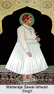 Ishwari Singh was the elder son of a Kachwaha ruler of Jaipur, Sawai Jai Singh II.  His ascension to the throne in 1743, after his father died, was contested by his  half brother Madho Singh 1.   Ishwari Singh and Madho Singh 1 fought two battles. Both the time Ishwari Singh emerged victorious with the help of Maratha chieftains Malhar Rao Holkar and Ranoji Scindia.