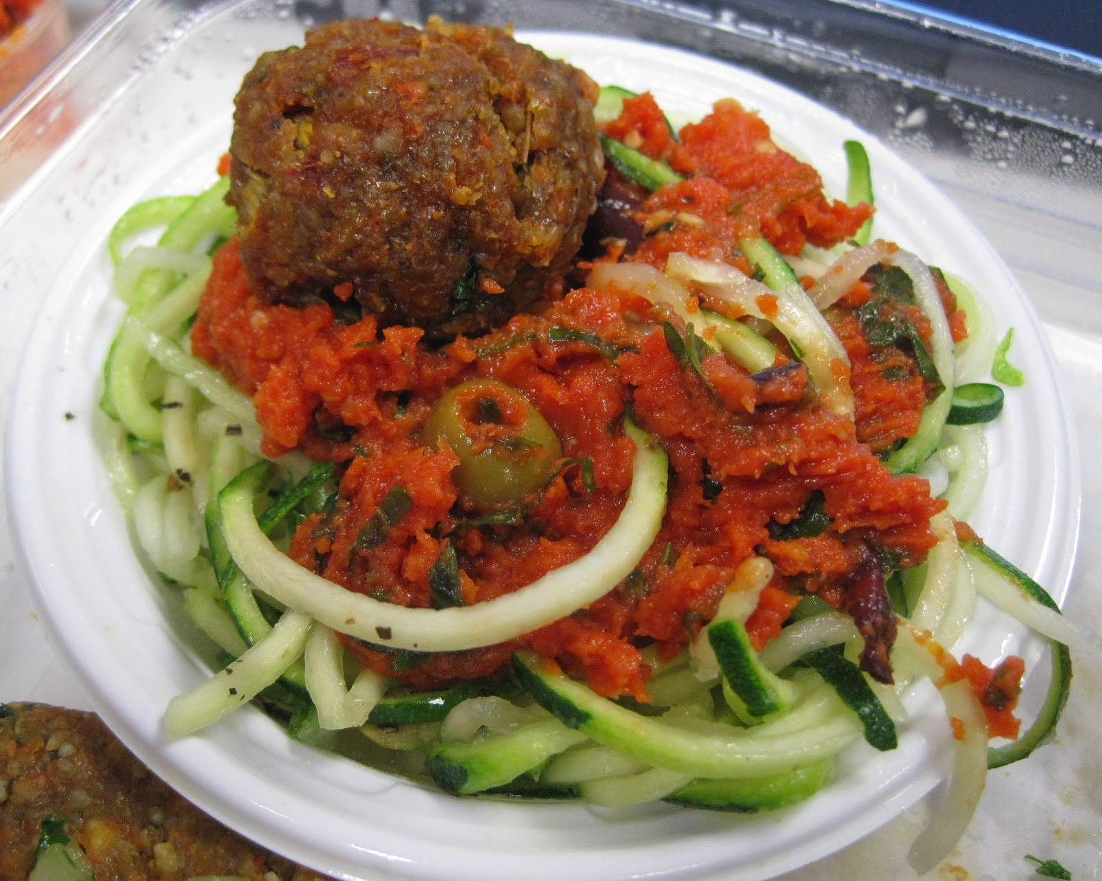 "Spaghetti + ""Meatballs"" - Chicago Raw Veega Blog Vegan"