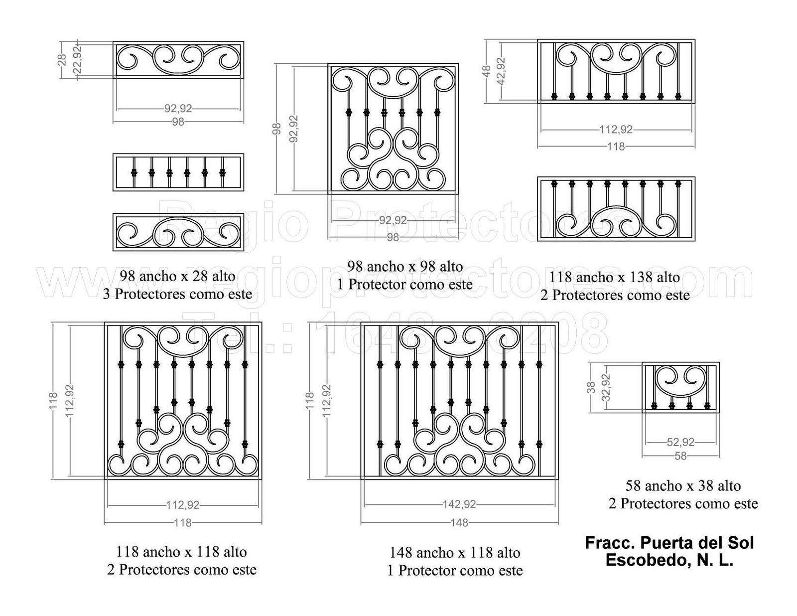 Protectores para ventanas y puertas mosquiteras, Fracc. Puerta del Sol