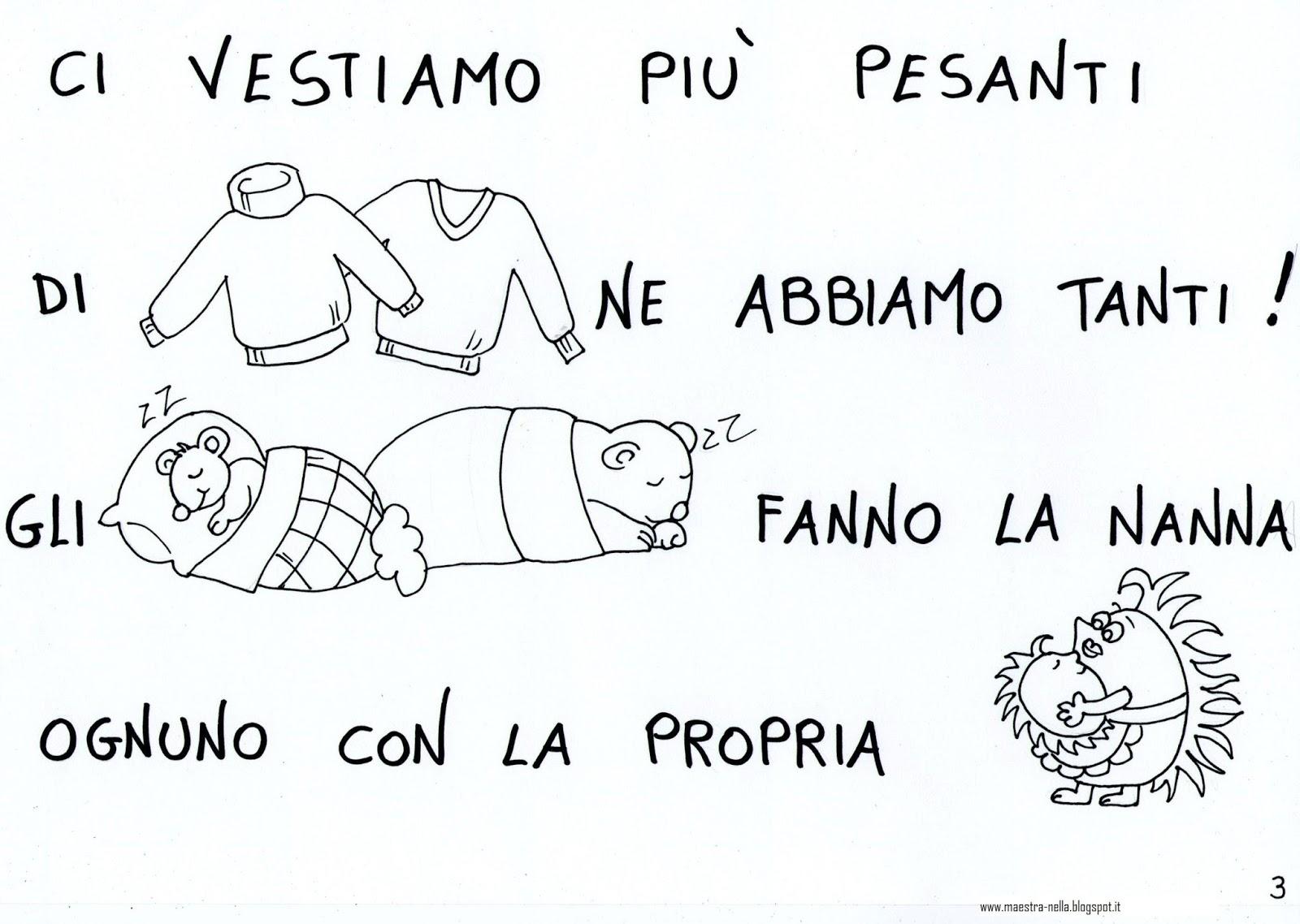 Top maestra Nella: Autunno - poesia illustrata XB05