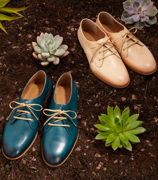 leather lace up flats, oxfords