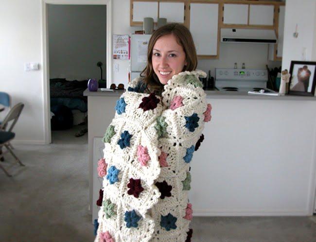 crochet flower afghan
