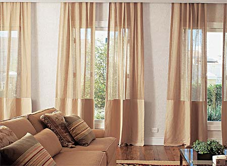 Mi casa mi hogar cortinas para salas grandes 2013 for Cortinas para sala y comedor modernas