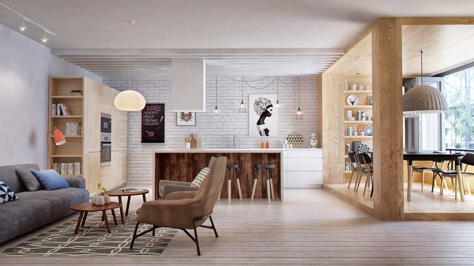 Conceito Aberto Cozinha E Sala Moderno E Prtico Por Que No Pensar  -> Fotos De Cozinha Conceito Aberto