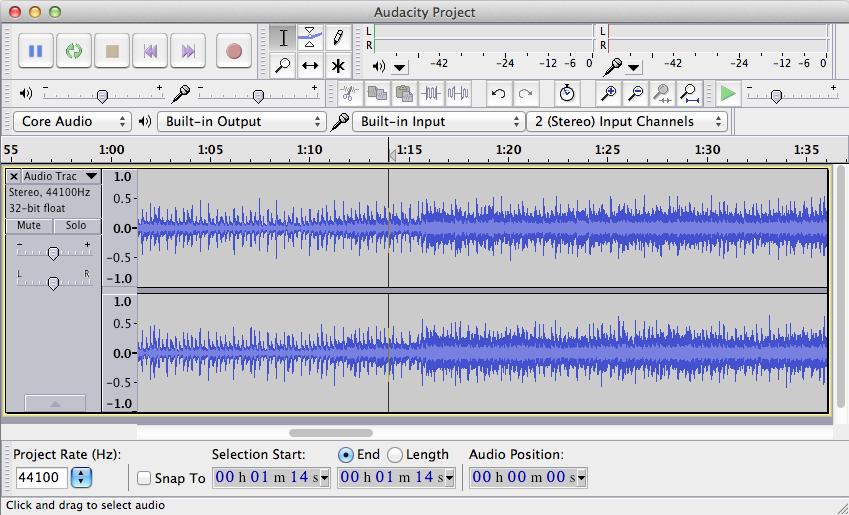 Sound editing in Audacity