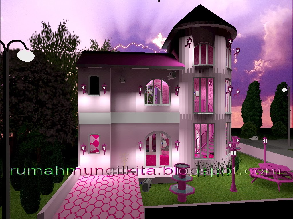 Real Barbie Dream House Castle, front side