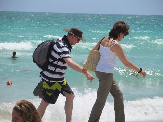 miami beach,tourist,couple