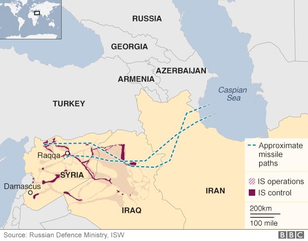 Targetkan ISIS, 4 Rudal Penjelajah Rusia Jatuh di Iran