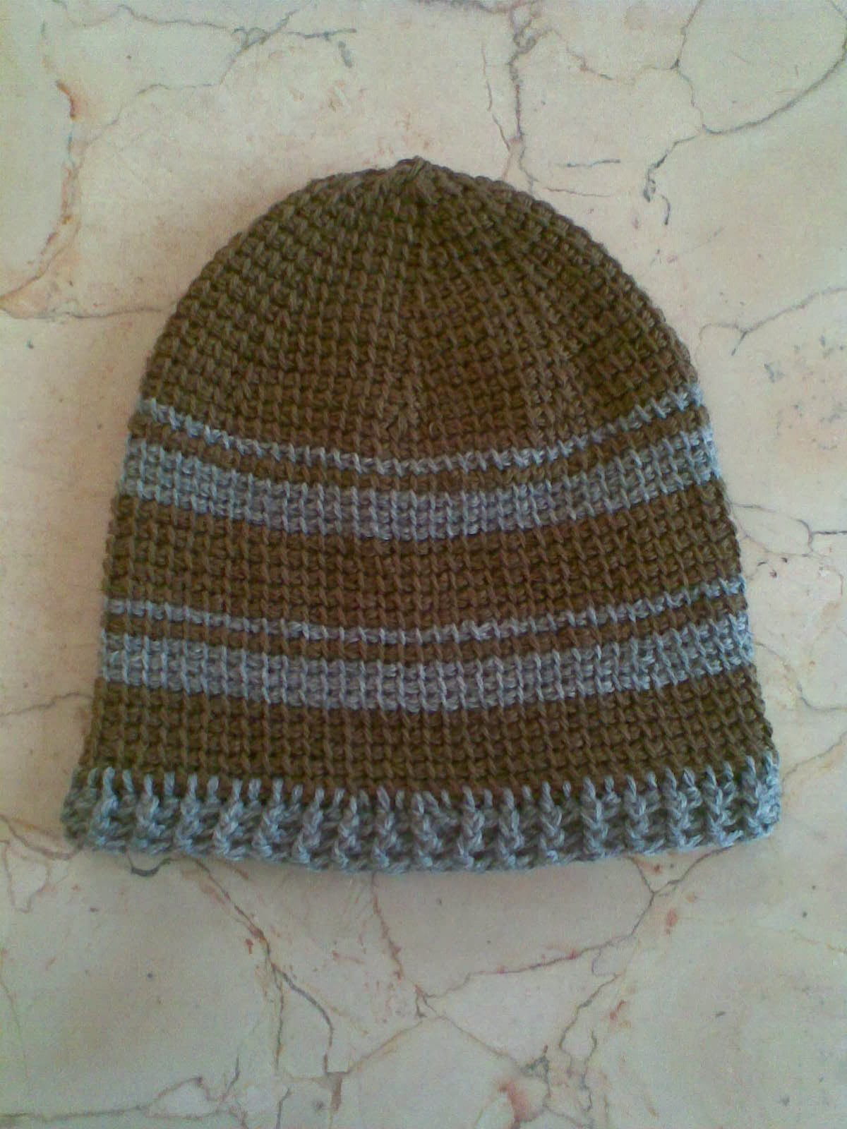 Tunisian Crochet Hat In The Round Pattern