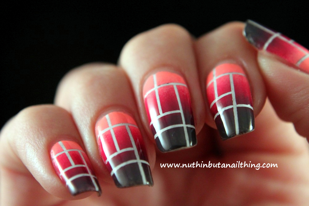 nuthin\' but a nail thing: Salons Direct: Striping tape gradient and ...