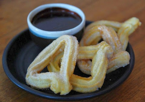 Delicious Churros with Chocolate Sauce