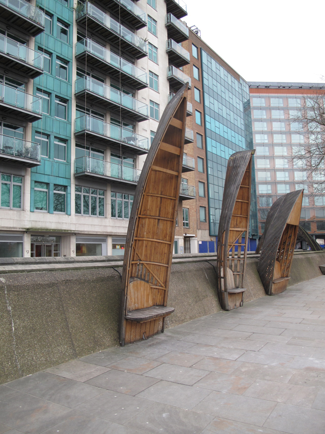 Assentos públicos de barcos antigos