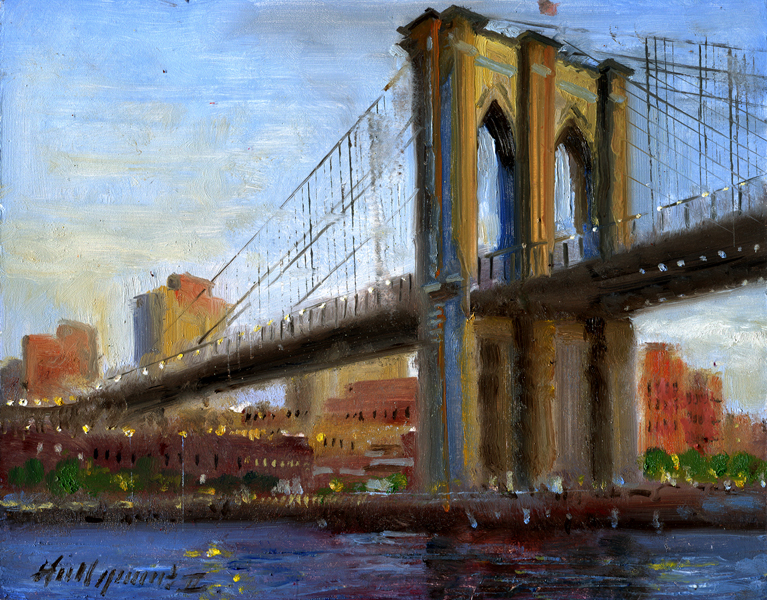 New York Painting Bridge Hall Groat II Painting...
