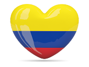 heart shape graphics flag of Colombia (flag of colombia flags )