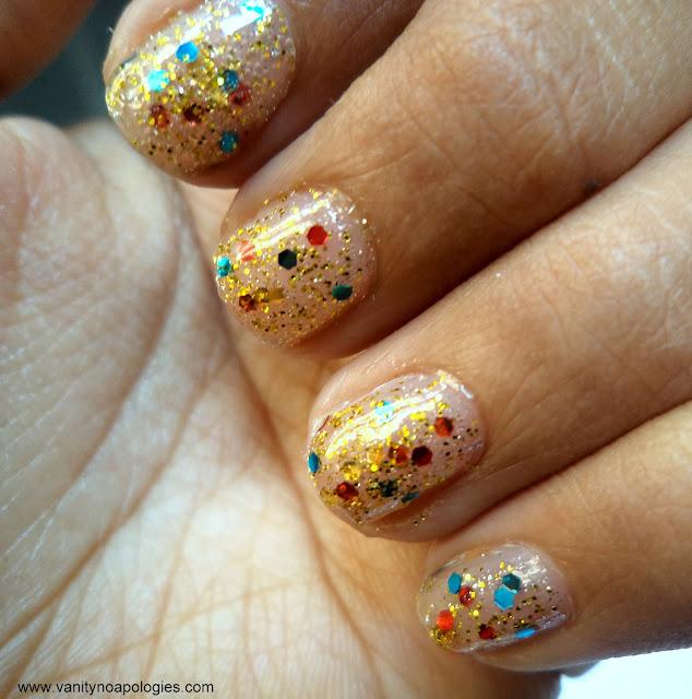 glitter nail gold photos