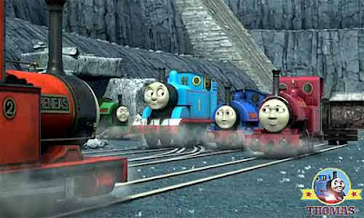Sir Handel Thomas the tank engine Thin Controller Skarloey Railway narrow gauge Rheneas Rusty diesel