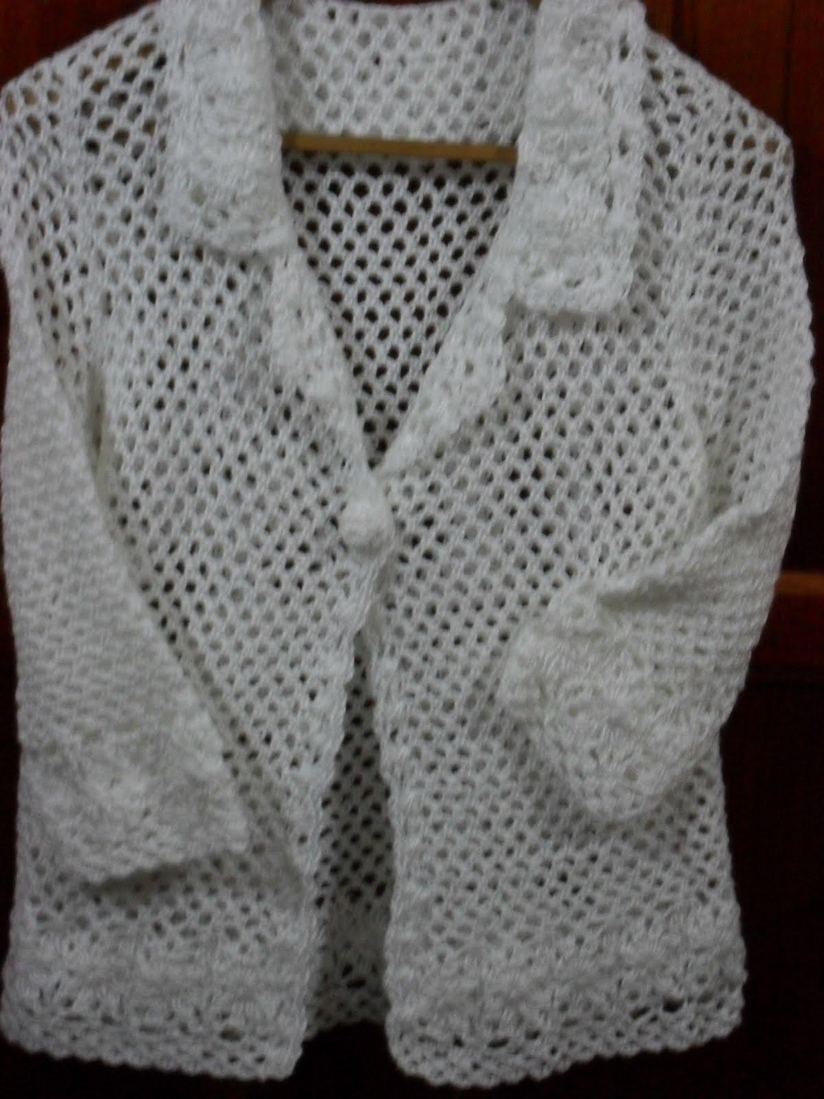 saco calado crochet blanco los tejidos de marta