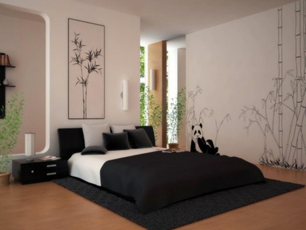 Japanese bed frame design - Beautiful Japanese Bedroom With Design Room White Color