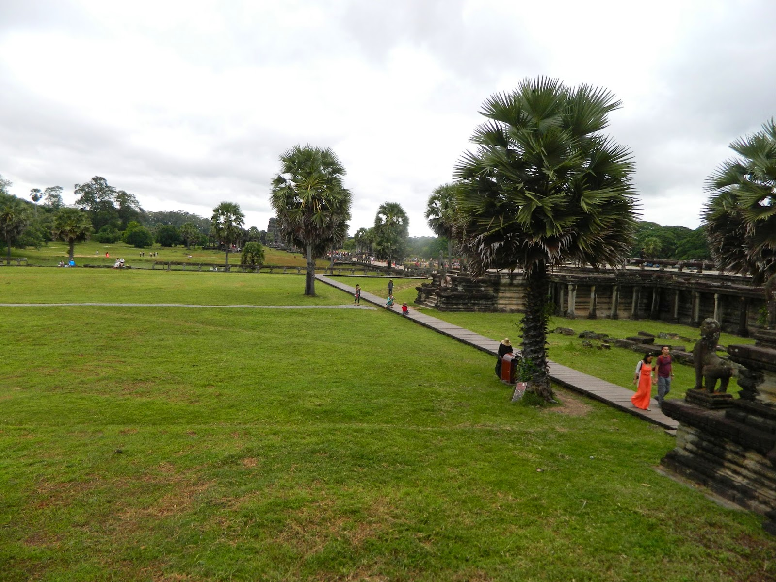 Open grounds at the Angkor Wat Temple