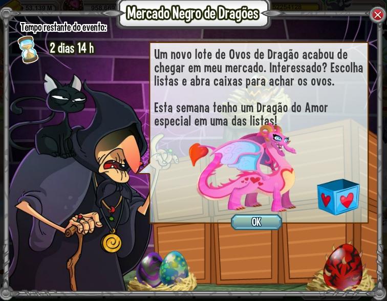 Este Dragão só pode ser adquirido pelo Mercado Negro de Dragões: