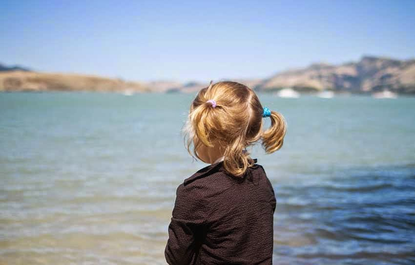Girl alone Watching Nature's Beauty
