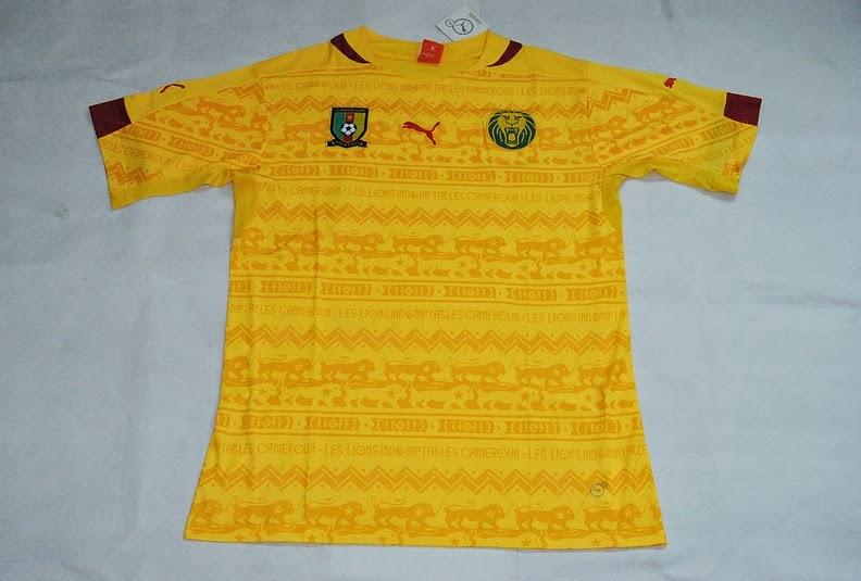 Kaos Bola Replika Kamerun Away World Cup Brasil 2014