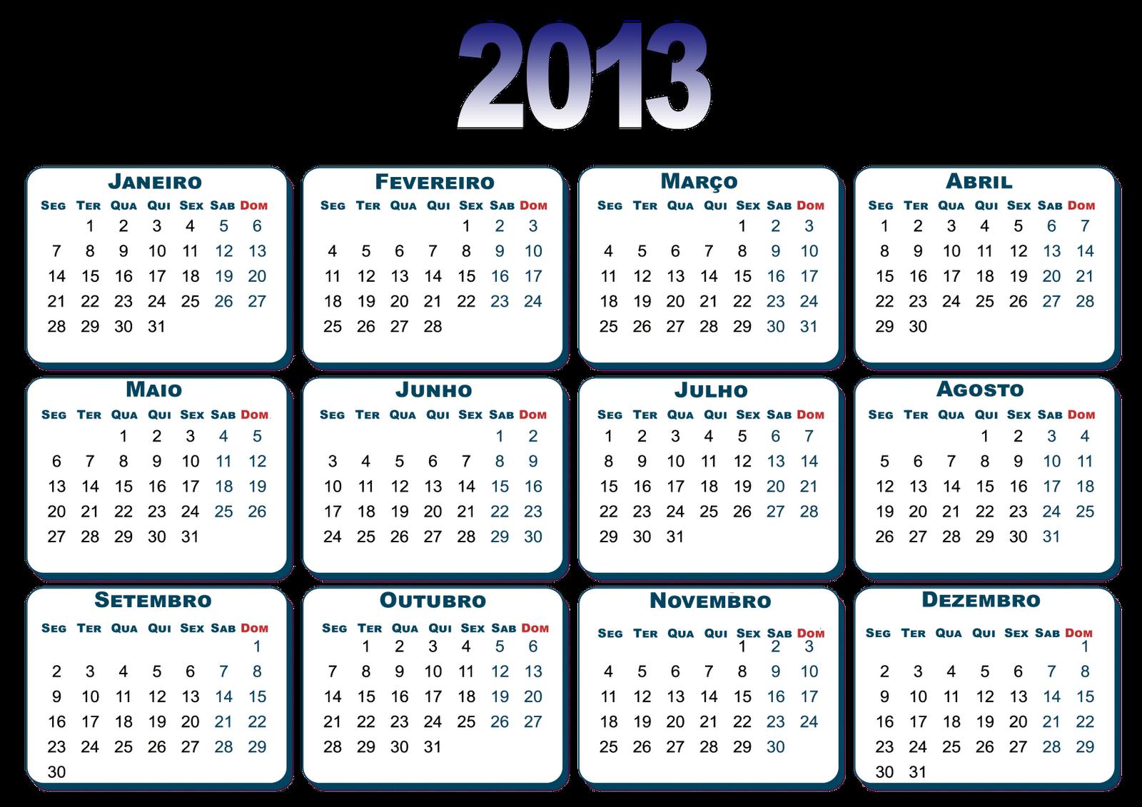 Mais duas bases para montagens de calendario 2013 em português do